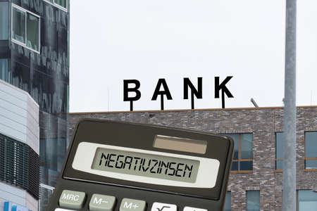 A bank, calculator and the negative interest rates