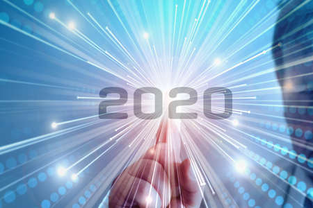 A man starts in the year 2020