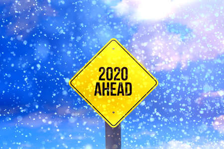 Snow and Shield 2020 Stock Photo