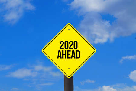 A sign and year 2020 Standard-Bild