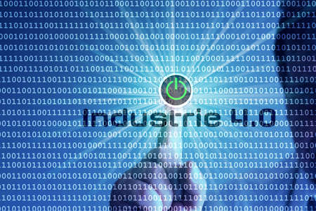 A man starts Industry 4.0