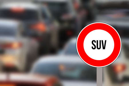 Cars and ban on the SUV Standard-Bild