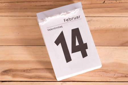 A calendar and Valentine's Day in February