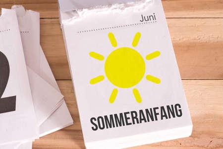 A calendar and summer start