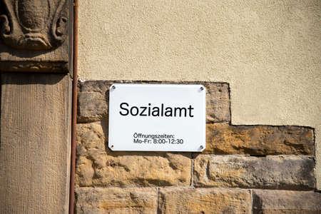 A sign from a social office Standard-Bild
