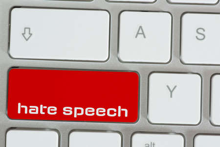 Computer and key for hate speech