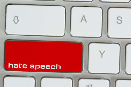 A computer and key for hate speech