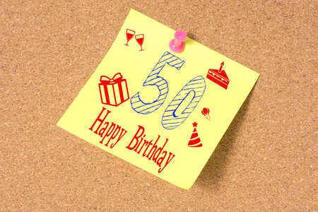 Message Board And Congratulations On Your 50th Birthday Stock Photo Picture And Royalty Free Image Image 141473307
