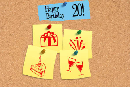 Message board and congratulations on your 20th birthday