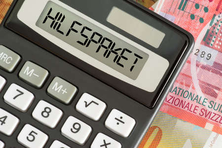 Money Swiss Francs, calculator and aid package for Switzerland