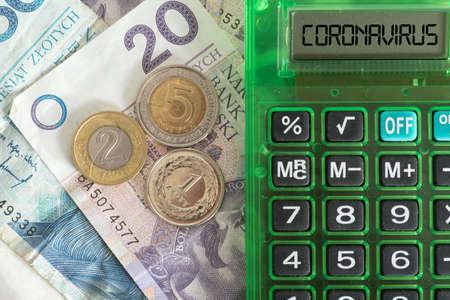 Money Polish zloty PLN, calculator and cost of coronavirus