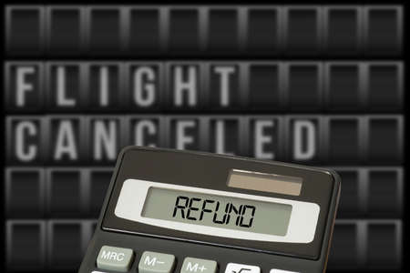 Calculator and refund for canceled flight