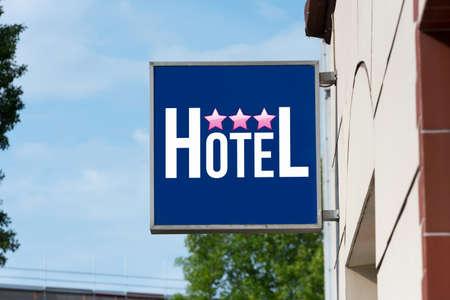 Ein Hinweis auf ein Hotel