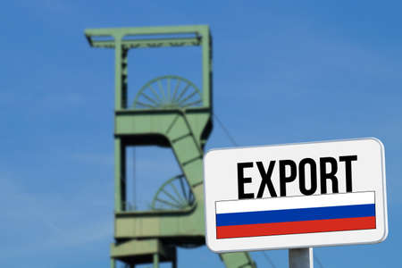 A coal mine and export Russia