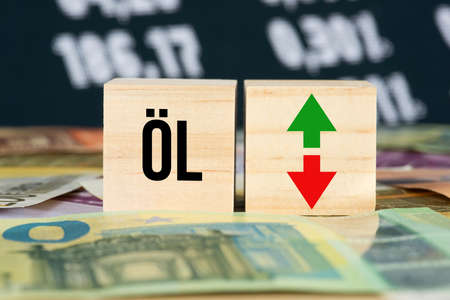 Oil price, euro banknotes and the stock exchange