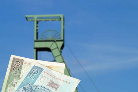 Mine, mine and money Polish zloty PLN