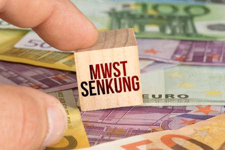Euro banknotes and lower VAT Reklamní fotografie