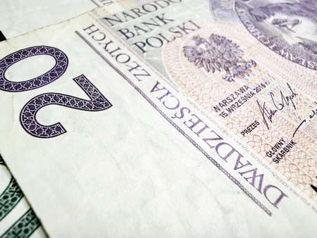 Close up of money Polish zloty PLN Banque d'images