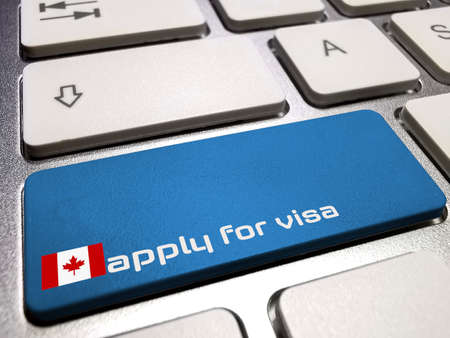 Computer and application for Canada visa