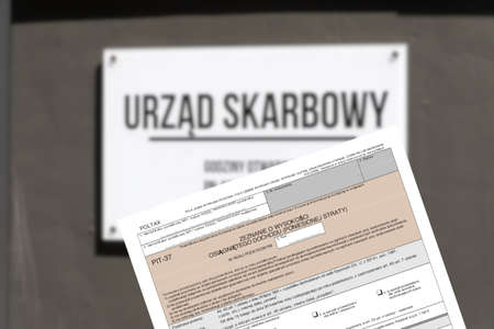 Tax office in Poland and PIT tax return form