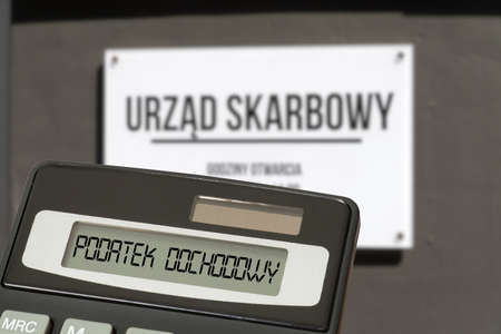Tax office in Poland, calculator and income tax