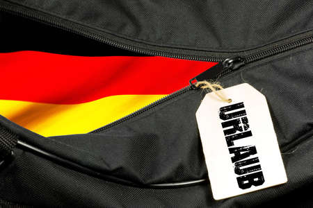 A travel bag and vacation in Germany