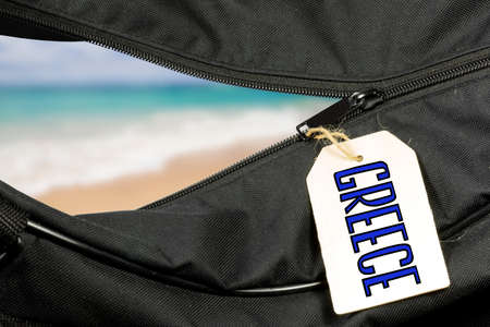 A bag and vacation in Greece