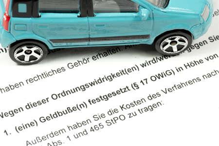 Fine notice and a car