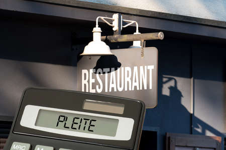 A restaurant, calculator and broke