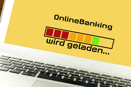 Computer and loading bar for online banking