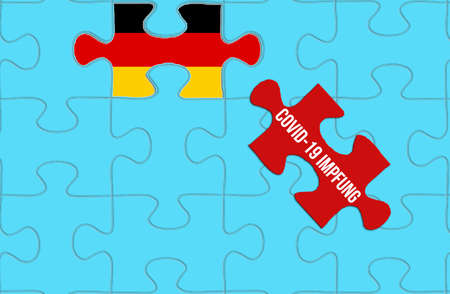 A puzzle and corona vaccination in Germany