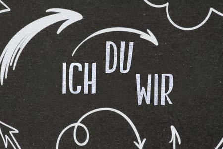 A blackboard and words I you we Reklamní fotografie