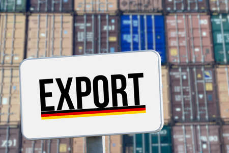 Containers in the port and German exports