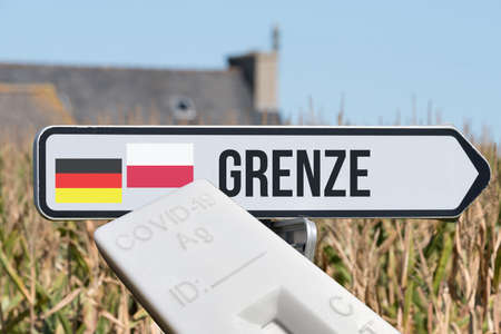 A test and border between Germany and Poland