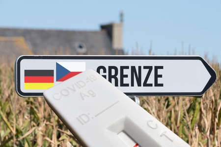A test and the border between Germany and the Czech Republic