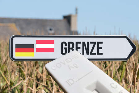 A test and border between Germany and Austria Reklamní fotografie