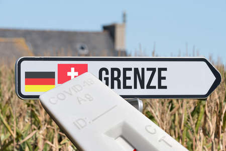 A test and border between Germany and Switzerland