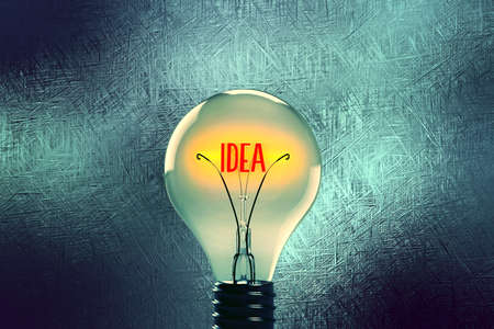 A lightbulb and an idea