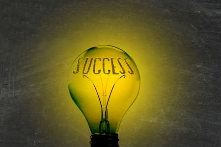 A light bulb, light and success Reklamní fotografie