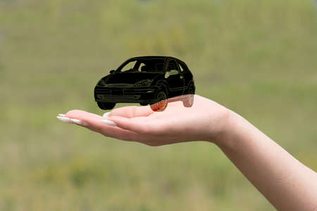 A car on one hand