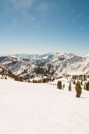 expansive: Expansive view of the connection between Alta and Snowbird Stock Photo