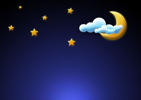 Moon and Stars background