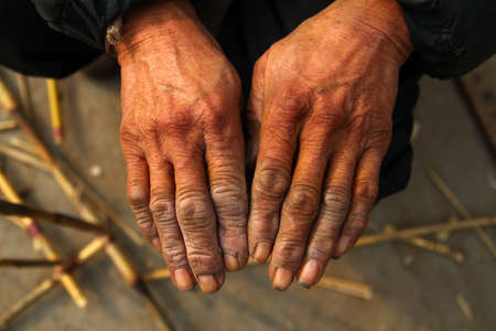 The hands of the working people photo