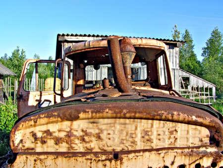 old soviet tractor photo