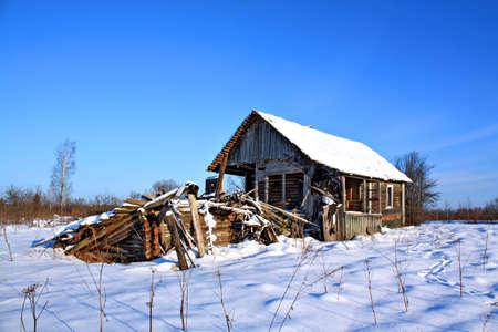rickety: ruined farmhouse Stock Photo