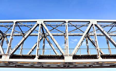 outbound: railway bridge Stock Photo