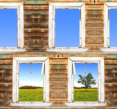 view from old window. abstract Stock Photo - 6010409