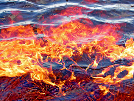 fire under water Stock Photo - 6221517