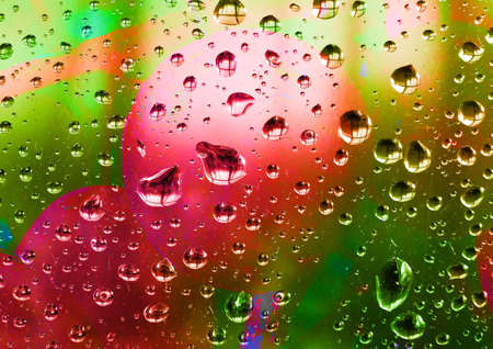 dripped: dripped on glass