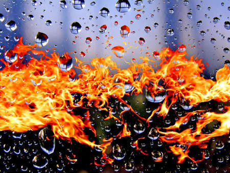 dripped: dripped on background of the fire